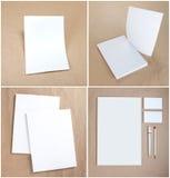 Ustalony materiały projekt Materiały szablon grafika biznesowy korporacyjnej tożsamości szablonu wektor Zdjęcie Stock
