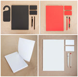 Ustalony materiały projekt Materiały szablon grafika biznesowy korporacyjnej tożsamości szablonu wektor Zdjęcie Royalty Free