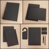 Ustalony materiały projekt Materiały szablon grafika biznesowy korporacyjnej tożsamości szablonu wektor Obrazy Royalty Free