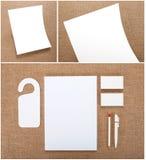 Ustalony materiały projekt Materiały szablon grafika biznesowy korporacyjnej tożsamości szablonu wektor Fotografia Royalty Free