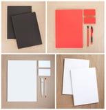 Ustalony materiały projekt Materiały szablon grafika biznesowy korporacyjnej tożsamości szablonu wektor Obraz Stock