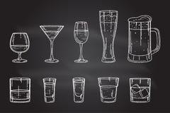 Ustalony napoju alkoholu szkło ilustracji