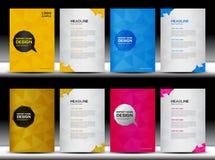 Ustalony Okładkowy sprawozdanie roczne szablon, Okładkowy szablon, wieloboka tło, broszurka projekt Zdjęcia Stock