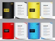 Ustalony Okładkowy sprawozdanie roczne szablonu Okładkowego szablonu wieloboka backgrou Zdjęcia Stock