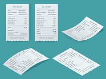 Ustalony Papierowy czek ilustracja wektor
