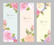 Ustalony pionowo kwiecisty kartka z pozdrowieniami Obrazy Royalty Free