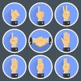 Ustalony ręka gest royalty ilustracja