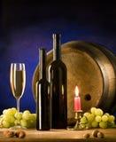 ustalony stołowy wino Zdjęcie Royalty Free