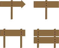 ustalony szyldowy drewniany Ilustracji