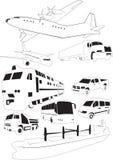 ustalony transport Ilustracji