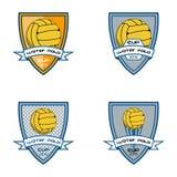 Ustalony wodnego polo logo dla drużyny i filiżanki Obraz Royalty Free