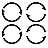 Ustalony znak prze?adowywa od?wie?a ikon?, prz?dzalniane strza?y w okr?gu, wektorowa symbol synchronizacja, odnawialna crypto wal royalty ilustracja