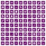 100 ustalonych grunge purpur Obraz Stock