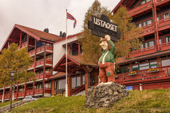 Ustaoset Resort at the Ustevatn lake in the municipality of Hol,. USTAOSET, NORWAY - SEPTEMBER 25, 2014 : Ustaoset Resort at the Ustevatn lake in the Royalty Free Stock Images