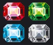 ustaw wektor kristal Zdjęcia Stock