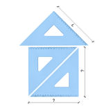 ustaweni domowi trójboki Obraz Royalty Free