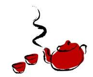 ustawić herbatę. ilustracji