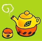 ustawić herbatę. ilustracja wektor