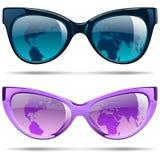 ustawić okulary przeciwsłoneczne Ilustracji
