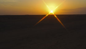 ustawić słońce Obrazy Royalty Free