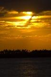 ustawić słońce fotografia stock