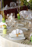 ustawić stół ślub Zdjęcie Stock