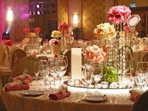 ustawić stół ślub obrazy stock