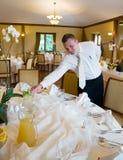 ustawić stół kelnera Obrazy Royalty Free