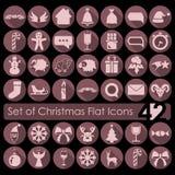 ustawić symbole świąteczne Obrazy Stock