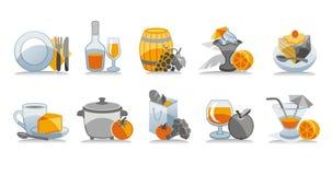 ustawić symbole żywności ilustracja wektor