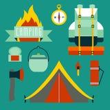 ustawić symbole campingowe ilustracji