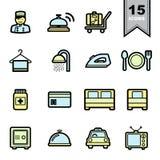 ustawić symbole hotelowe ilustracji