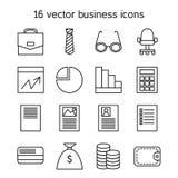ustawić symbole jednostek gospodarczych Obraz Stock