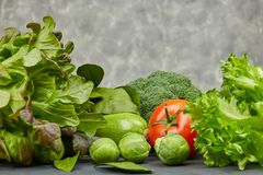 ustawić warzywa E Naturalni produkty od ogródu obrazy royalty free