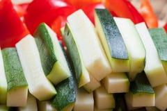 ustawić warzywa Selekcyjna ostrość Fotografia Stock