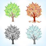 ustawić drzewa Zdjęcia Royalty Free