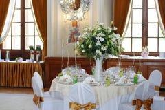 ustawić stół ślub Obraz Royalty Free