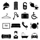 ustawić symbole hotelowe Obrazy Royalty Free