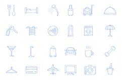 ustawić symbole hotelowe ilustracja wektor