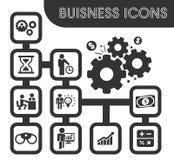 ustawić symbole jednostek gospodarczych Obraz Royalty Free