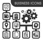 ustawić symbole jednostek gospodarczych Fotografia Stock