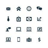 ustawić symbole jednostek gospodarczych Fotografia Royalty Free