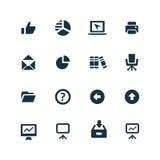 ustawić symbole jednostek gospodarczych Zdjęcia Stock