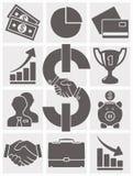 ustawić symbole jednostek gospodarczych wektor Obrazy Royalty Free