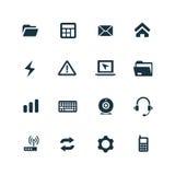 ustawić symbole komputerowych Obrazy Stock