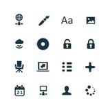 ustawić symbole komputerowych Zdjęcia Royalty Free