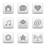 ustawić symbole komunikacyjnych Obraz Royalty Free