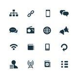ustawić symbole komunikacyjnych Fotografia Stock