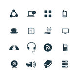 ustawić symbole komunikacyjnych Obraz Stock