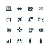 ustawić symbole komunikacyjnych Zdjęcie Royalty Free